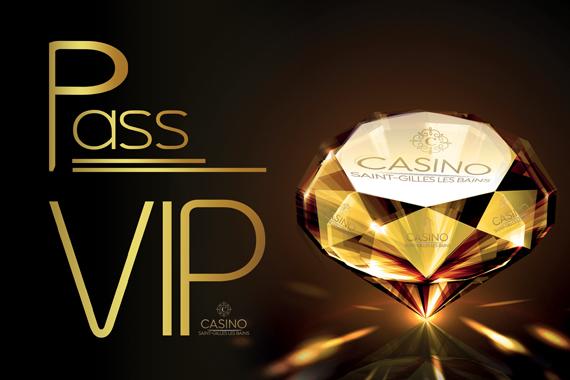 Carte PASS VIP du Casino de Saint Gilles