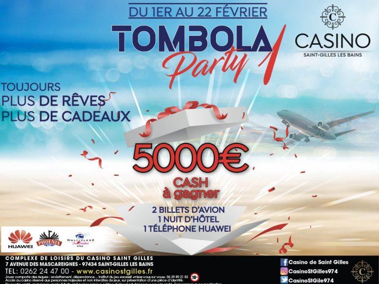 TOMBOLA PARTY – 5 000 € CASH A GAGNER ET D'AUTRES LOTS